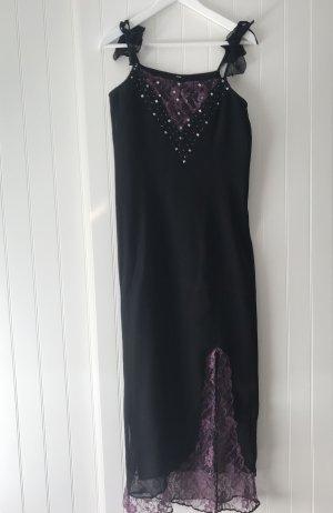Festliches Kleid schwarz lila Spitze