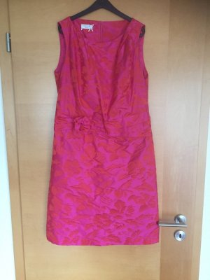 Apanage A-lijn jurk magenta Acetaat