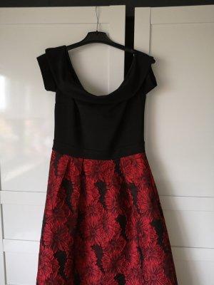 Apart  glamour Vestido de noche negro-rojo