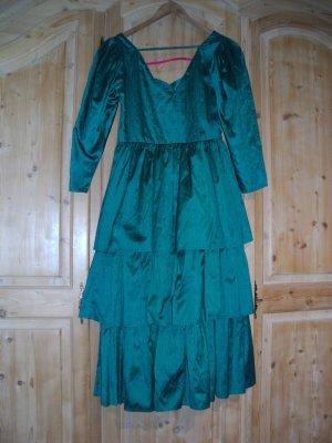 Festliches Kleid von Sportalm; 38; Bourrette- / Wildseide; grün; 1 x getragen