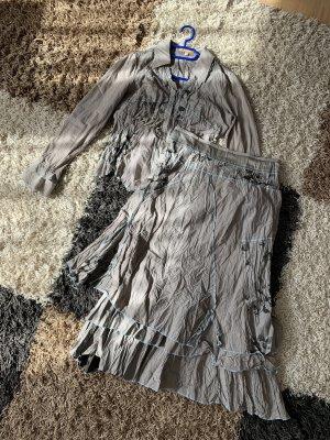 Biba Ladies' Suit grey brown-light blue