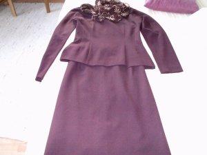 Peplum Dress bordeaux mixture fibre