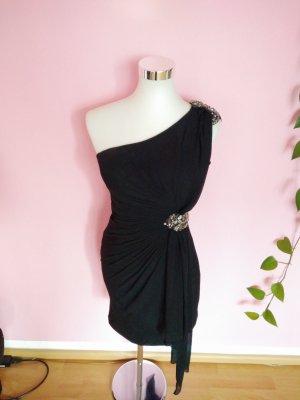 Festliches One-Sholder-Kleid in schwarz (K4)