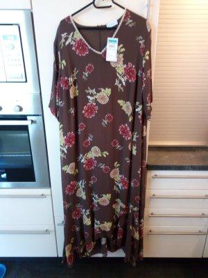 festliches schlank machendes Kleid in Größe 50 braun