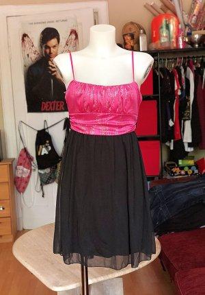 Festliches Schwarz/Pinkes Kleid M Ruby Rox