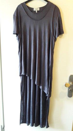 Robe longue gris foncé
