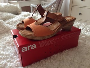 Festpreis: NEUE Ara Echtleder-Sandaletten in Pfirsich, Größe 40