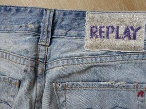 fetzige Jeans super Waschung mit Perlen Größe 27/34