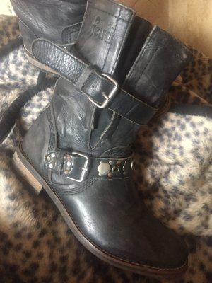 Feud london Botas moteras gris oscuro