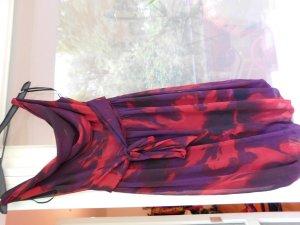 Feuerrot geblümtes Ballonkleid Cocktailkleid von Orsay