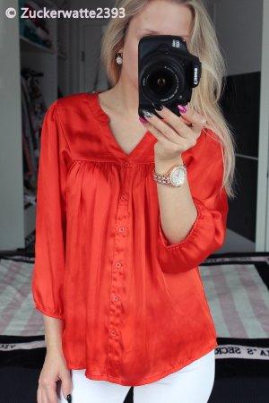 H&M Blusa brillante rojo-rojo claro