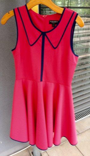 Fever City Sommerkleid im Retrostyle pink/dunkelblau Gr. 40
