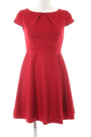 Fever london A-Linien Kleid dunkelrot-karminrot Webmuster Elegant