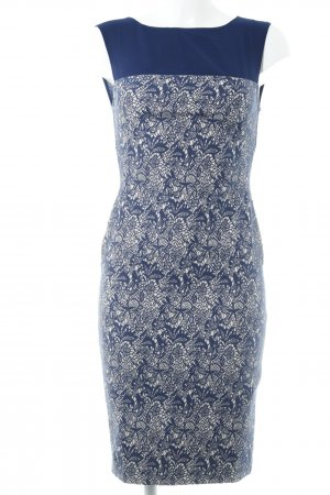 Fever london Bleistiftkleid dunkelblau-hellbeige florales Muster Casual-Look