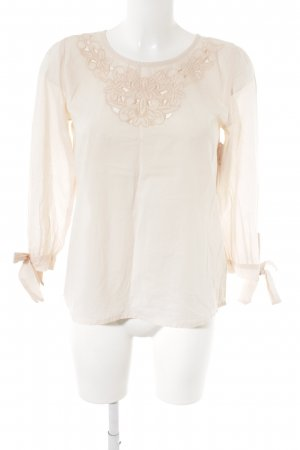 Fever london Langarm-Bluse rosé Blumenmuster Romantik-Look