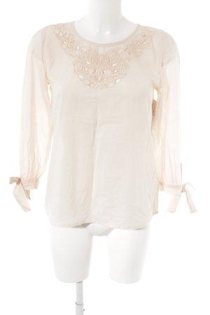Fever london Langarm-Bluse rosé Blumenmuster Romantik-Look