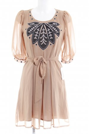 Fever london Langarmkleid nude 70ies-Stil