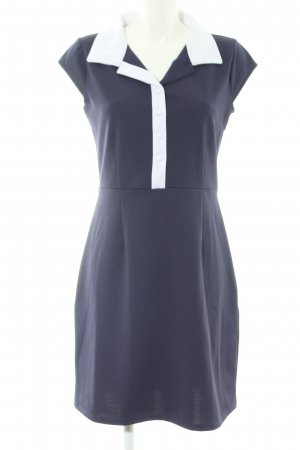 Fever london Vestido tipo polo azul-blanco estilo «business»