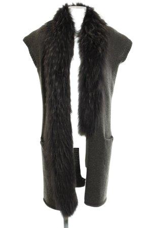 FFC Cardigan graubraun-dunkelbraun extravaganter Stil