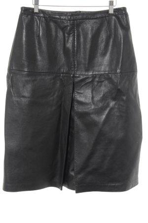 FFC Falda de cuero negro elegante