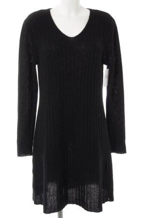 FFC Vestido tipo jersey negro punto trenzado look casual
