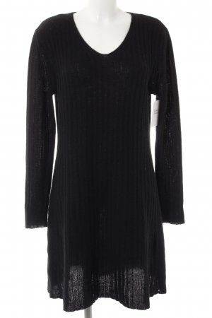 FFC Pulloverkleid schwarz Zopfmuster Casual-Look