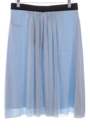 FFC Seidenrock schwarz-hellblau Elegant