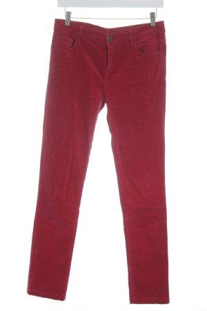 FFC Skinny Jeans magenta Samt-Optik