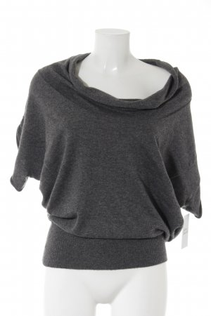 FFC Maglione lavorato a maglia grigio scuro puntinato stile casual