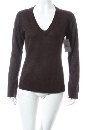 FFC V-Ausschnitt-Pullover dunkelbraun Casual-Look