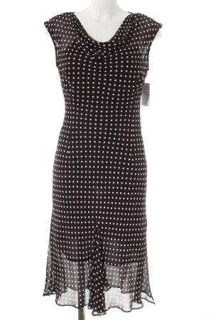FFY Abendkleid weiß-dunkelbraun Punktemuster 20ies-Stil
