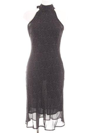 FFY Midikleid weiß-dunkelblau Punktemuster Street-Fashion-Look