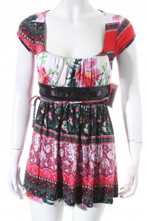 Fifilles Paris Shirttunika Blumenmuster Romantik-Look