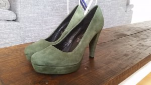 Fifth Avenue Collection Leder Pumps Grün/Khaki 38