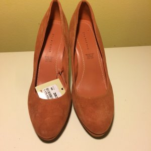 5th Avenue High Heels light orange-orange leather