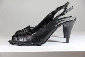 Fifth Avenue High Heel Sandal black leather
