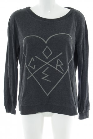 Fiftyfive DSL Sweatshirt schwarz-hellgrau abstraktes Muster Casual-Look