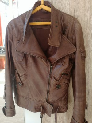 & other stories Leather Jacket brown