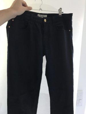 Mango Low-Rise Trousers dark blue