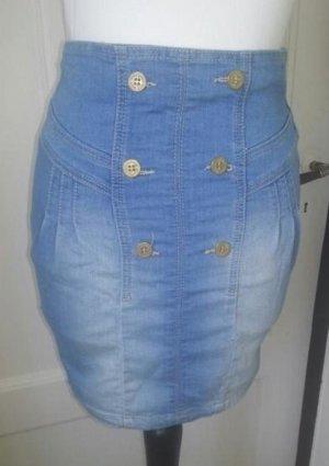 Zara Trafaluc Jupe en jeans bleu pâle