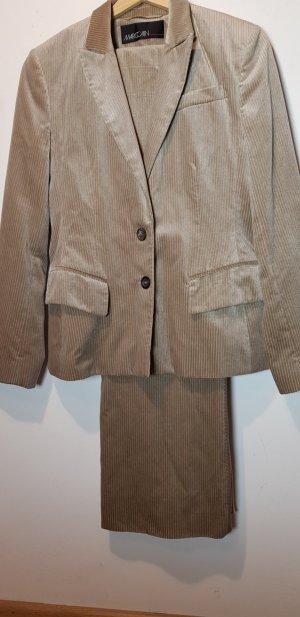 Marc Cain Traje de pantalón marrón grisáceo