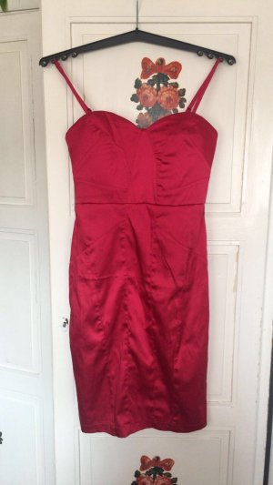 17&co Robe de cocktail rouge foncé-rouge