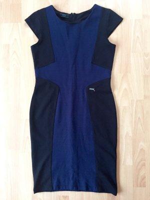 Figurbetontes Jerseykleid schwarz-blau von Guess