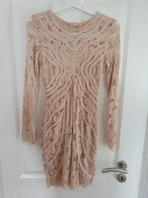 H&M Cut out jurk room-nude