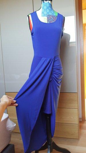 High Low Dress blue-steel blue