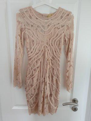 H&M Vestido cut out crema-nude