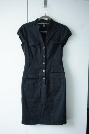 H&M L.O.G.G. Robe cargo noir coton