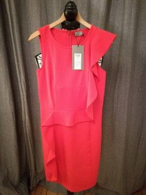 Vero Moda Vestido peplum rojo