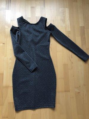 Amisu Vestido de cóctel gris antracita