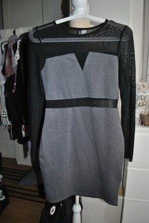 Figurbetontes Kleid mit Netzeinsätzen